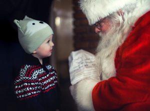 Santa with boy